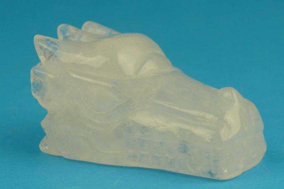 Bergkristal edelsteen drakenschedel