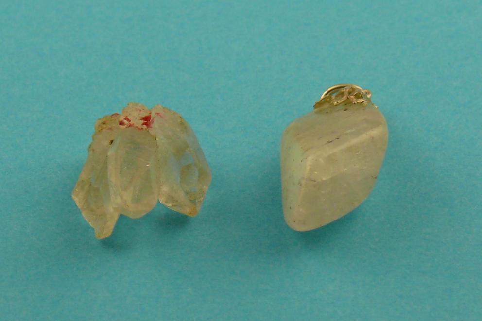 Bergkristal hanger - half transparant