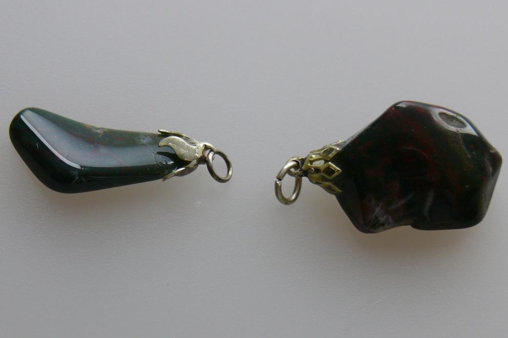 Heliotroop (bloed Jaspis)  hanger