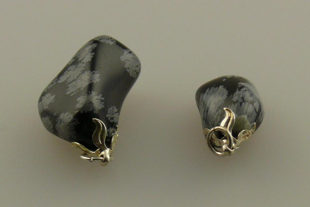 Obsidiaan hanger - Sneeuwvlok Obsidiaan