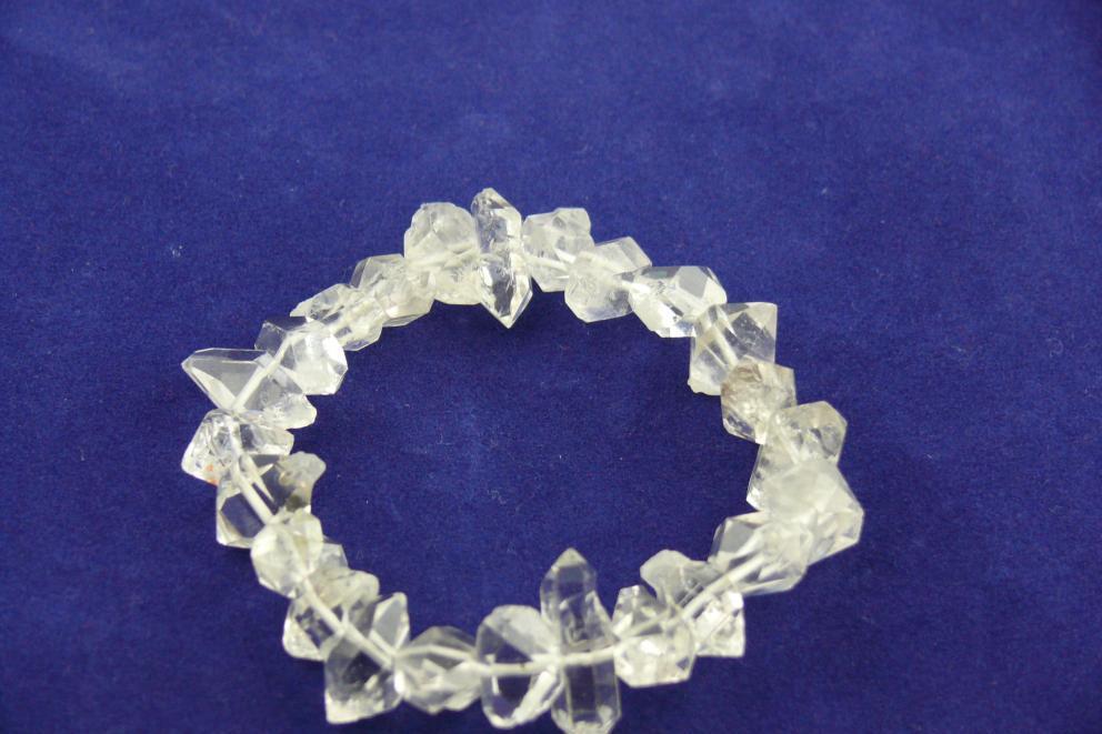 Herkimer edelsteen armband - dubbeleinder