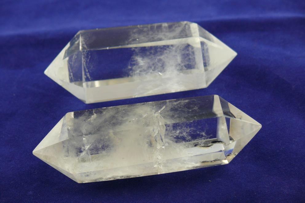 Bergkristal dubbeleinder doorstromings kristal