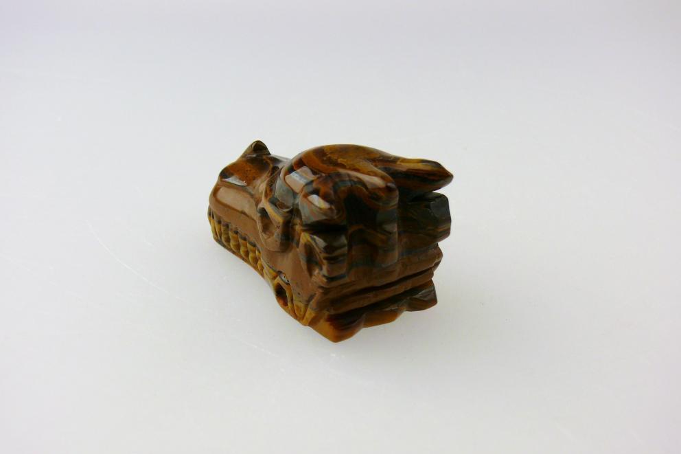 Tijgeroog edelsteen drakenschedel