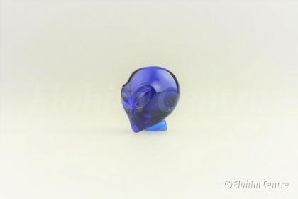 Blauwe Obsidiaan Alien Schedel