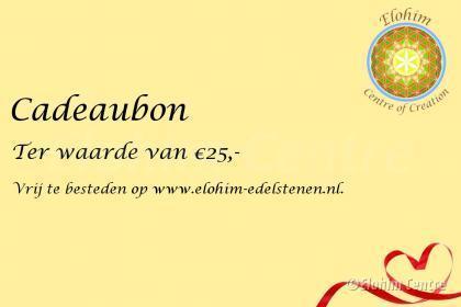Cadeaubon - 25 euro