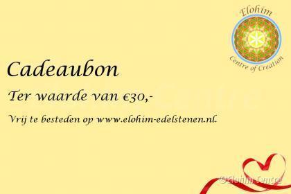 Cadeaubon - 30 euro
