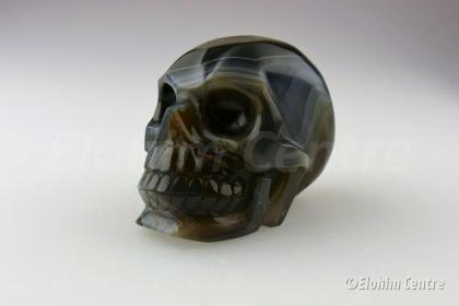 Agaat Galactische menselijke geode schedel