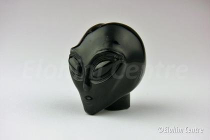 Alien schedel, zwarte obsidiaan