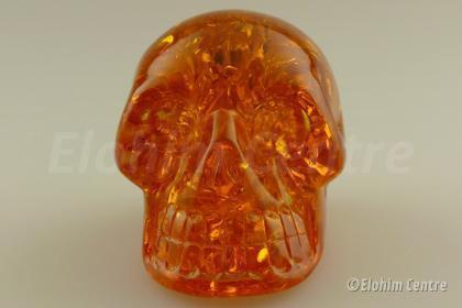 Barnsteen, menselijke schedel, human schedel