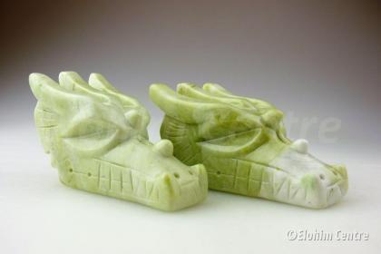 Jade edelsteen drakenschedel