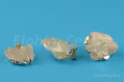Diamanten bewustzijn - bergkristal cluster hanger