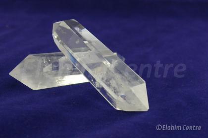 Bergkristal dubbeleinder doorstromings kristal  set