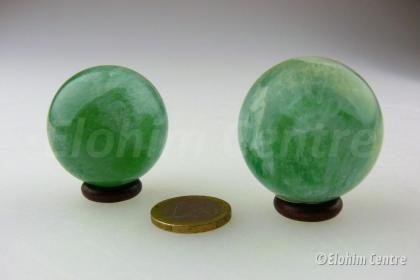 Groene Fluoriet bol - incl. houder