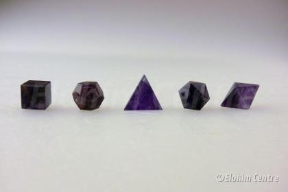 Amethist, edelstenen - de 5 geometrische vormen of platonische lichamen