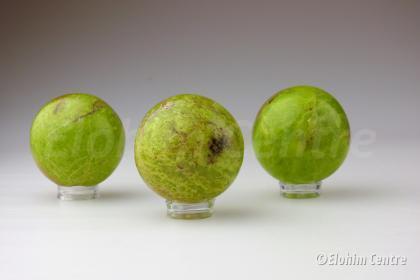 Groene Opaal bol, incl. houder