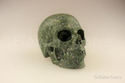 Groene Jaspis human schedel