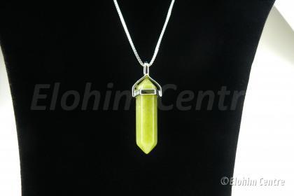 Lemon Jade edelsteen hanger, dubbeleinder