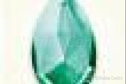 Scheppingsstraal kristal druppel - Groene straal