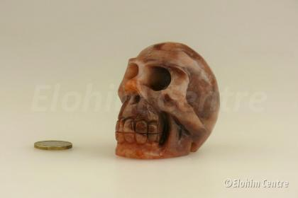 Aventurijn menselijke schedel, human schedel