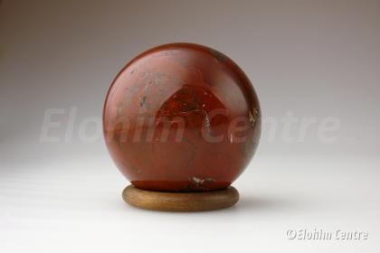 Rode Jaspis bol - incl. bolhouder