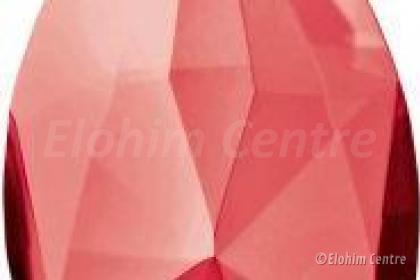 Scheppingsstraal kristal druppel - Rode straal