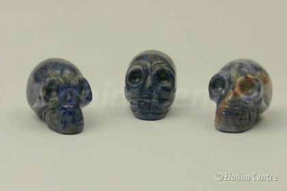 Sodaliet edelsteen Elohim traveler schedel