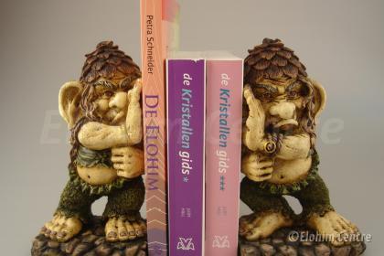 Trollenbeeld - Boeken steunende trollen (set) (2)